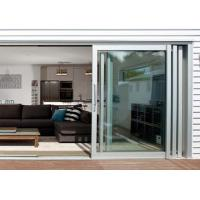 Commercial Aluminium Doors Stacking Sliding Glass Doors With Top Brand Accessory