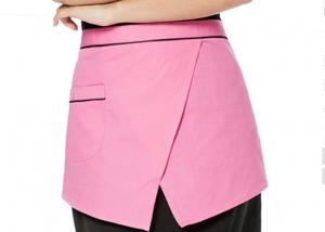 China Restaurant Cute Waitress Aprons Antifouling With Practical Front Pocket Design on sale