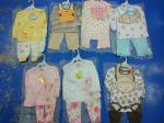 hot sale good quality cotton baby clothes stock  discount  3 piece sets spring 12M 24M kawaii  infant outfits on sale