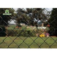 Diamond Hole Steel Chain Link Fence 50 × 50mm Heat Resistance For Railway Station