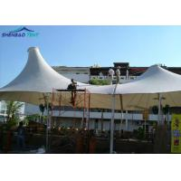 Acoustic White Tensile Roof Structures / Membrane Structure Building