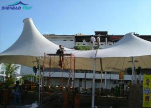 China Acoustic White Tensile Roof Structures / Membrane Structure Building on sale