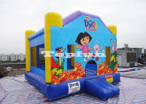 China Inflatable Dora House Bouncer Combo , Commercial Jumping Castles for Rent / Hire on sale