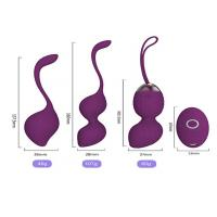 China Rechargeable Ben Wa Kegel Exercise Balls Silicone Wireless Remote Control Massager on sale