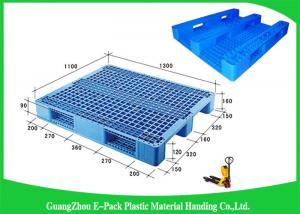 China 100% Virgin HDPE Plastic Euro Pallets Ventilated Stackable For Food Industry on sale