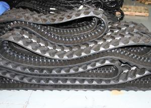 Quality Black Mini Excavator Rubber Tracks Smaller Contact Surface For K028 / Pc27mr for sale