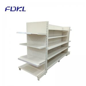 China 5 Layers Grocery Store Display Shelves White Color 2.0-2.5MM Bracket Thickness on sale
