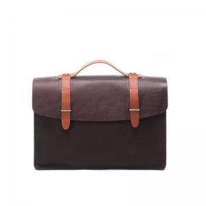 China Factory Wholesale Canvas matching Cowhide Leather Handbag Vintage Messenger Bag Men Shoulder Cross body Bags Brief Case on sale