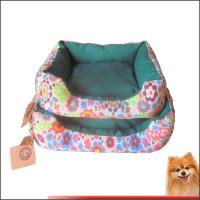China Dog beds online Canvas fabric dog beds with flower printed China manufacturer on sale