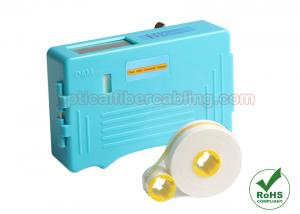 China Blue Cassette Fiber Optic Accessories Optical Fiber Connector Cleaning Box on sale