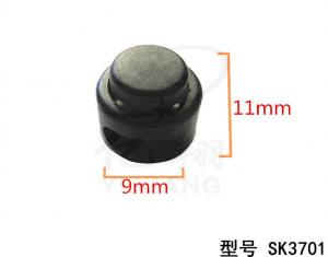 China black plastic ball cord lock toggles plastic 2 hole stoppers for 4mm cord on sale