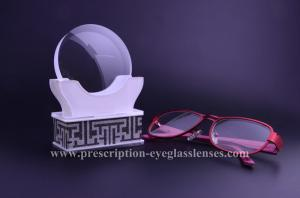 China 1.59 Polycarbonate Clear Flat Top Eyeglass Lenses Hard Coating 70MM Diameter on sale