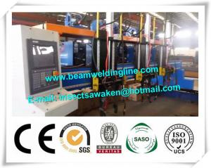 China H beam welding line for steel bridge , Steel construction bridge rib assembling and welding machine on sale