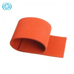 China High and low temperature resistant red color silicone foam rubber sheet with superior quality used for gasket seal etc on sale