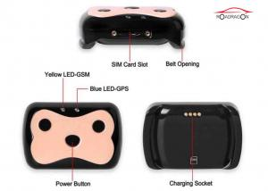 China Sim Card Pet Gps Tracker , GPS Tracking Collar Low Battery Alarm With Software on sale