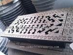 China Foundry Direct Machining Ironmongery Heavy Duty Manhole Frame And Vented Cover