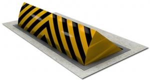China Multi Functional Hydraulic Road Blocker With Permanently Pre Embedded Box on sale