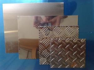 China Silver 6mm Aluminium Checker Plate 3004 Diamond Tread Aluminum Sheet on sale