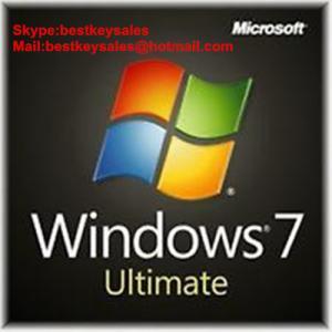 Quality Microsoft Windows 7 Ultimate OEM KEY, Original online activation key code for sale