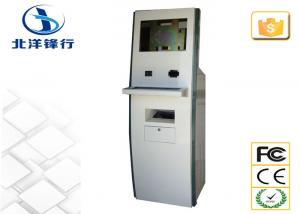 China Customized Lobby / School Self Service Banking Kiosk With Card Dispenser on sale