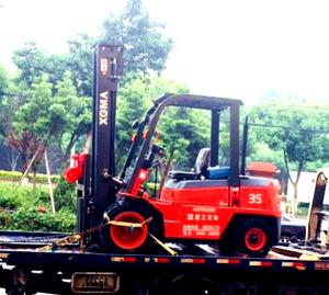China OEM Diesel Forklift Truck With Triplex Full Free Mast 5m Side Shift Container on sale