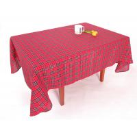 China Hand Wash Checkered Table Cloth Easy Cleaning With Classical Lattice Design on sale