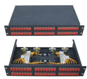 China FC48 Rack-Mounted  Fiber Optic Patch Panel Terminal Box Applicable in  the branch connection of fiber termination on sale
