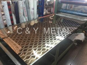China 304 Decorative stainless steel sheet ,mirror laser with rose-gold on sale