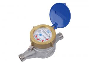 Quality Horizontal Multi Jet Water Meter, Cold / Hot Domestic Water Meter LXS-15E for sale
