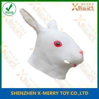 China X-MERRY White Rabbit Bunny Mask Handmade Rubber Latex Venetian Masquerade on sale