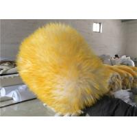 Reusable Double sided Car Washing Mitt Glove Yellow Color With 100% Pure Wool