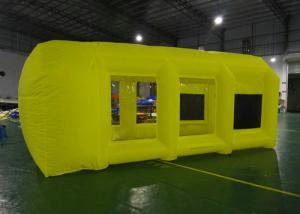 China Eco Friendly Yellow Commercial Inflatable Event Tent / Inflatable Spray Booth on sale