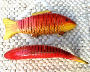 China 55013 decorative wooden fish, hanging swimming fish on sale