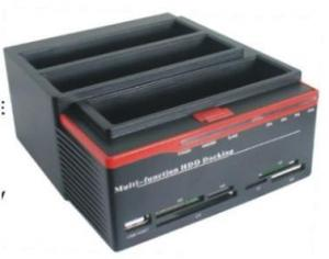 "Quality USB2.0 to 2.5 3.5""IDE&SATAx2 three slots multi-function HDD docking station MH for sale"