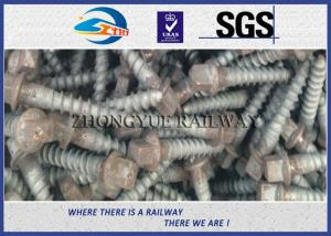 China Oxide Black 4.6 Grade Railway Ss Series Sleeper Screw Spike With 35# Steel Material on sale