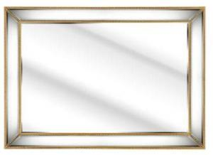 Quality Contemporary 3D Wall Mirror Interior Wooden Beads Frame Customized Size for sale
