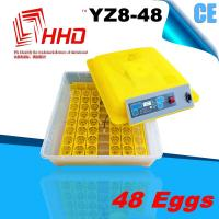 strong and durable CE approved automatic 48 egg incubator for sale