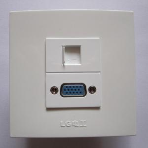 China Fashion White Color 86 Wall Socket RJ45 VGA PC Panel For Home Hotel Universal Using on sale