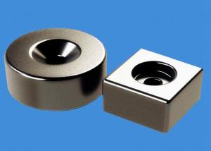 China Customized Ring Magnets Block Magnets 20 mm Countersunk Hole Magnets on sale