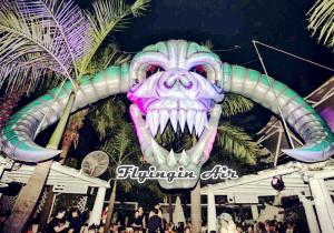 China Concert and Stage Decorative Inflatable Skull for Halloween Party Decoration on sale