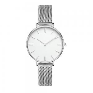 China Lady Slimming Quartz Silver Stainless Steel Watch Mesh Band 36mm Diameter on sale