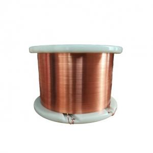 China UEW Flat Copper Wire / Solderable Enamelled Copper Wire Polyurethane Insulation on sale