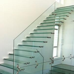 China Top Grade Steel Floating Stair with Glass Step Design on sale