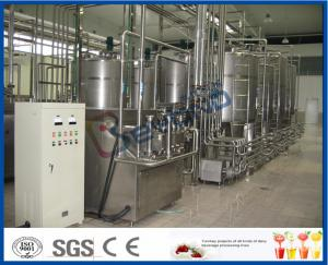 China Yogurt Processing Plant Yogurt Processing Equipment 5 - 200 TPD Full Automatic Industrial Type on sale