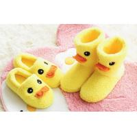 Yellow duck comfortable slippers and Boots , man / woman plush slippers for adults