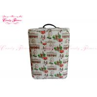 Two Wheel 22 inch carry on luggage Ladies Trolley Bag in Canvas