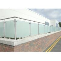 China Durable Glass Balustrade Stainless Steel Handrails , Tempered Glass Railing Systems on sale