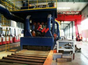 China 0.4 - 4m / Min Shot Blasting Machine For H Beam Cleaning And Blasting on sale