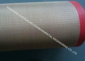 China Glass Fiber Teflon Coated Conveyor Belt Double Weft Elongation Coefficient Less 5‰ on sale
