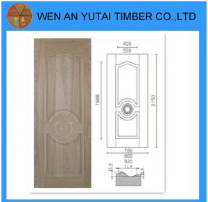 China Le nouveau hdf de conception a moulé l'utilisation de peau de porte de placage pour des portes on sale